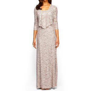 Alex Evenings Lace Evening MOB Gown/Dress 14